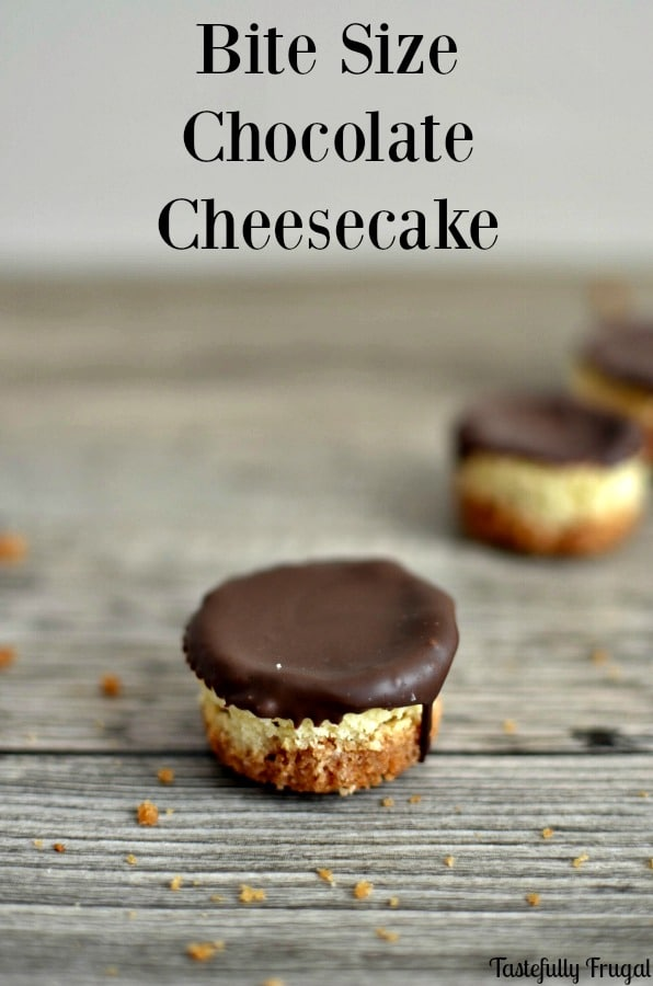 Bite Size Chocolate Cheesecake: Enjoy a favorite dessert in bite size form | Pretty Providence