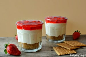 No Bake Strawberry Cheesecake | Tastefully Frugal