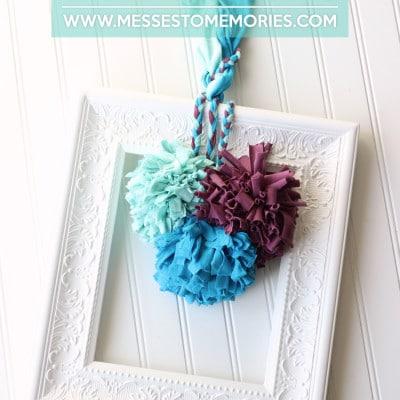 Framed Wreath with Pom Poms