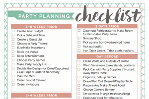 Free party planning checklist by Fantabulosity