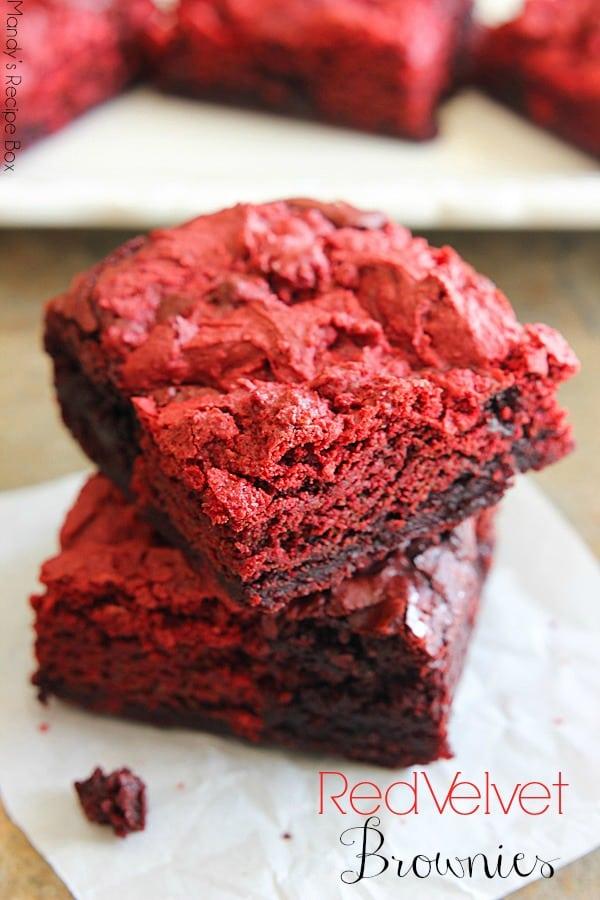 Red Velvet Brownies Pretty Providence