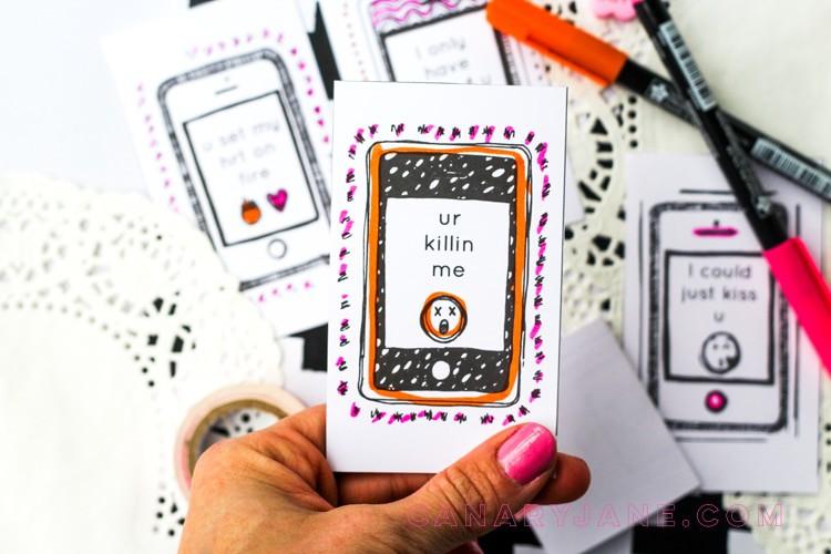 Printable Emoji Valentines Free Printable that you can color .
