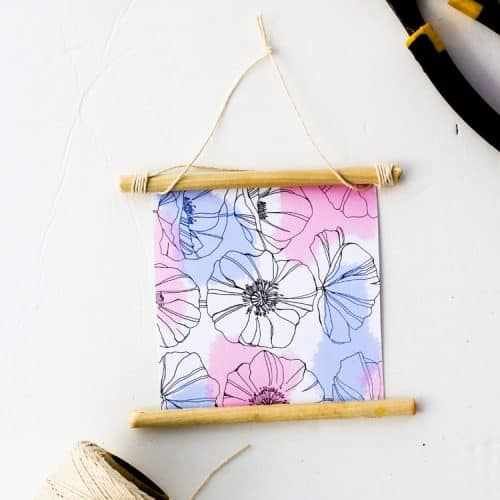 Free Printable Floral Wall Hanging