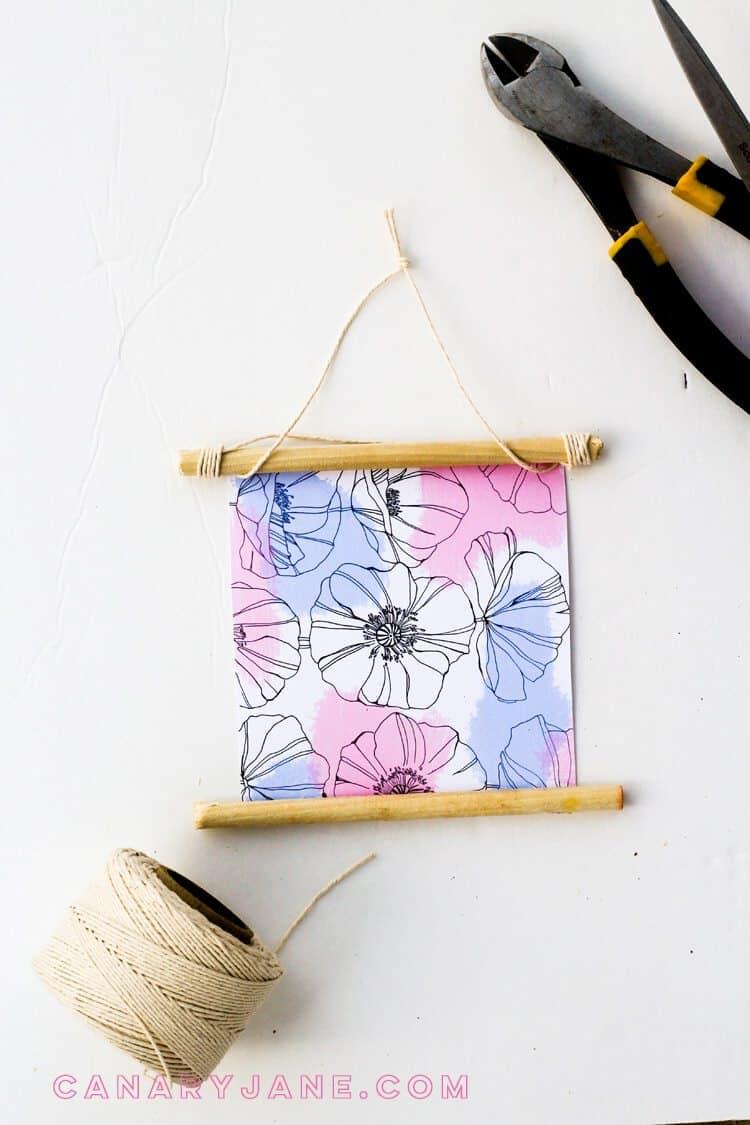 Spring floral DIY Hanging botanical print