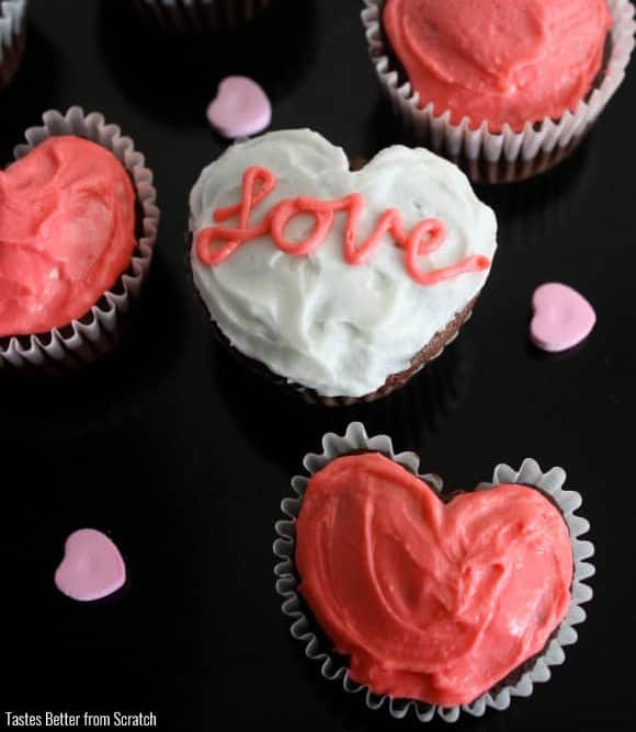 Valentines Day Heart Cupcakes