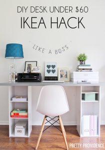 Ikea Hack DIY Desk under $60!!!