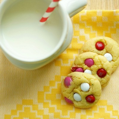 Easy Valentine's Day M&M Cookies