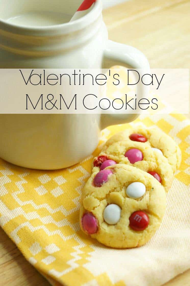Easy Valentine's Day M&M Cookies