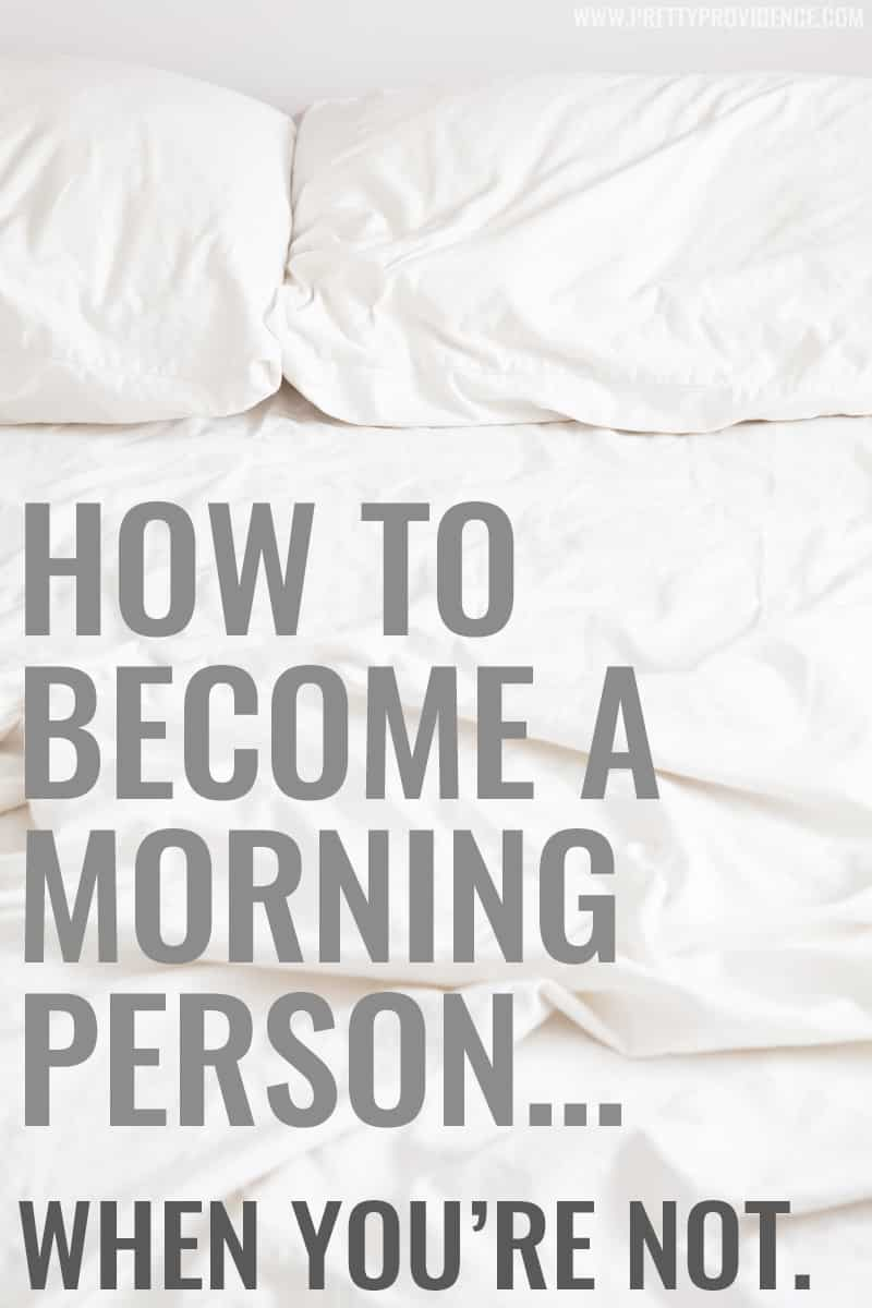 How to become a morning person... when you're not. Great tips from a recovered sleep-in-until-noon night owl on how to switch your schedule and make mornings enjoyable!