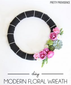 DIY Modern Floral Wreath