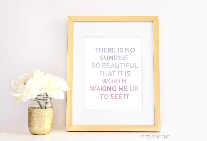 The Mindy Project Quote - Free Printable at prettyprovidence.com!