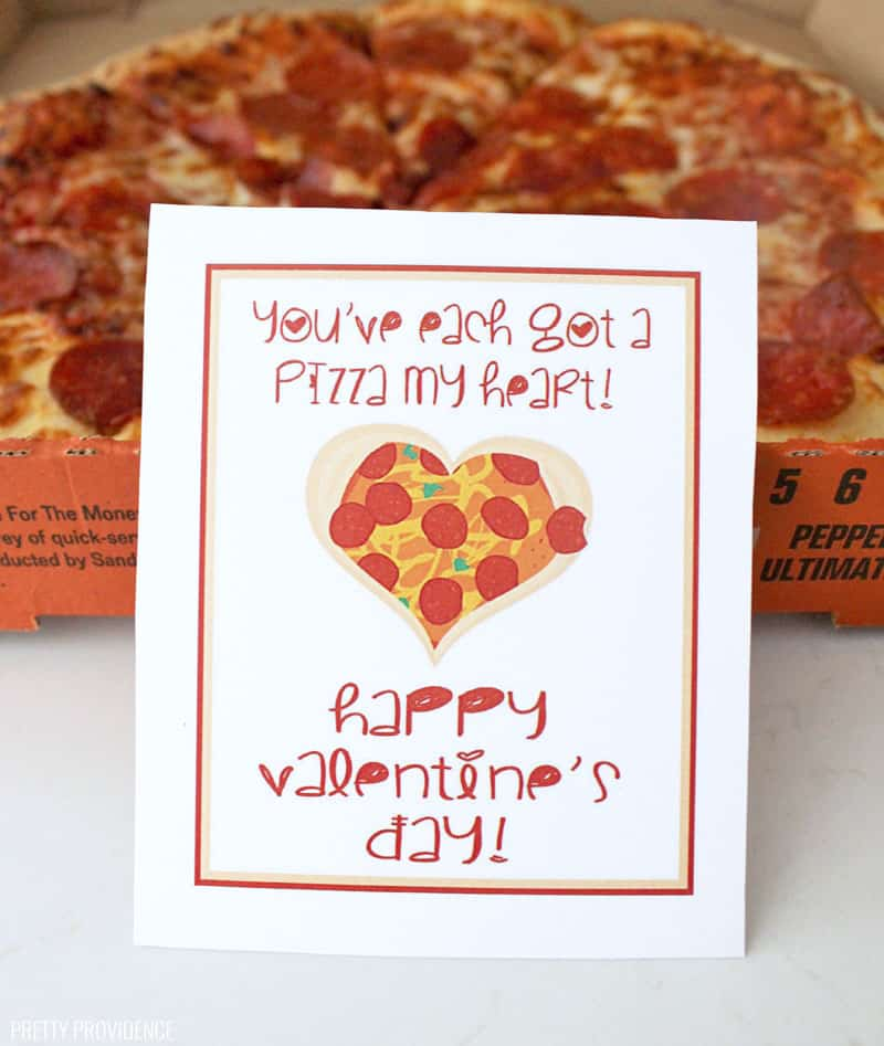 Pizza Puns Valentine's Free Printable
