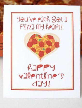 Pizza puns free printable Valentine card