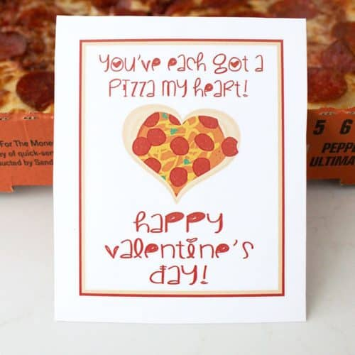"""Pizza My Heart"" Free Printable Valentines"