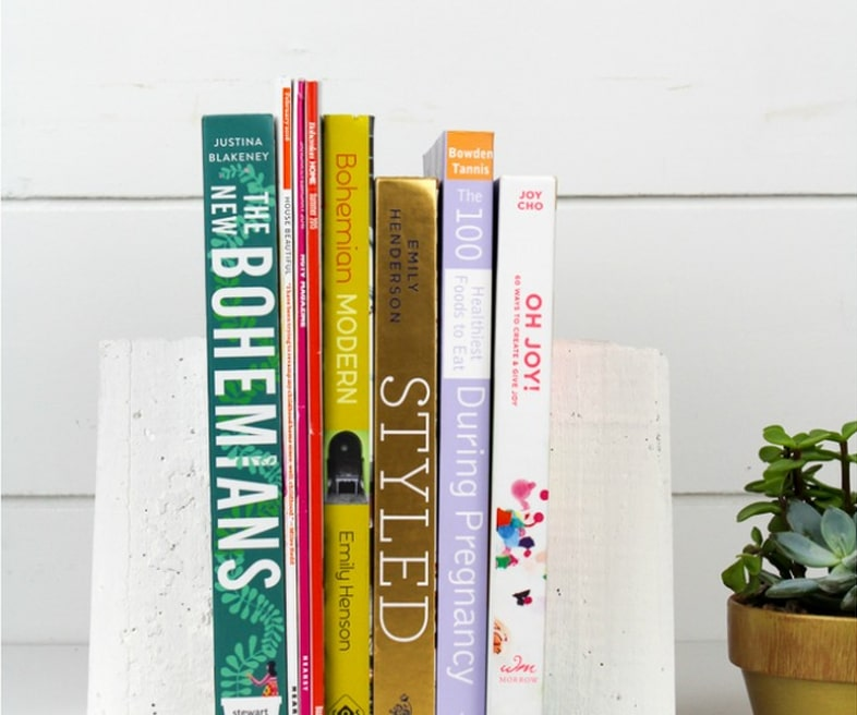 DIY Cement Bookends