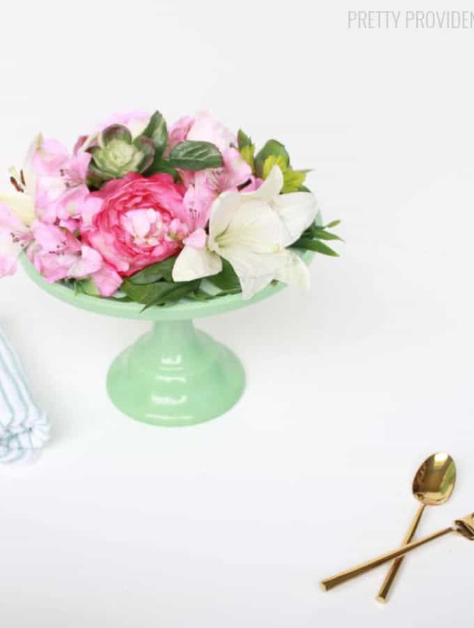 Floral Cake Stand Centerpiece