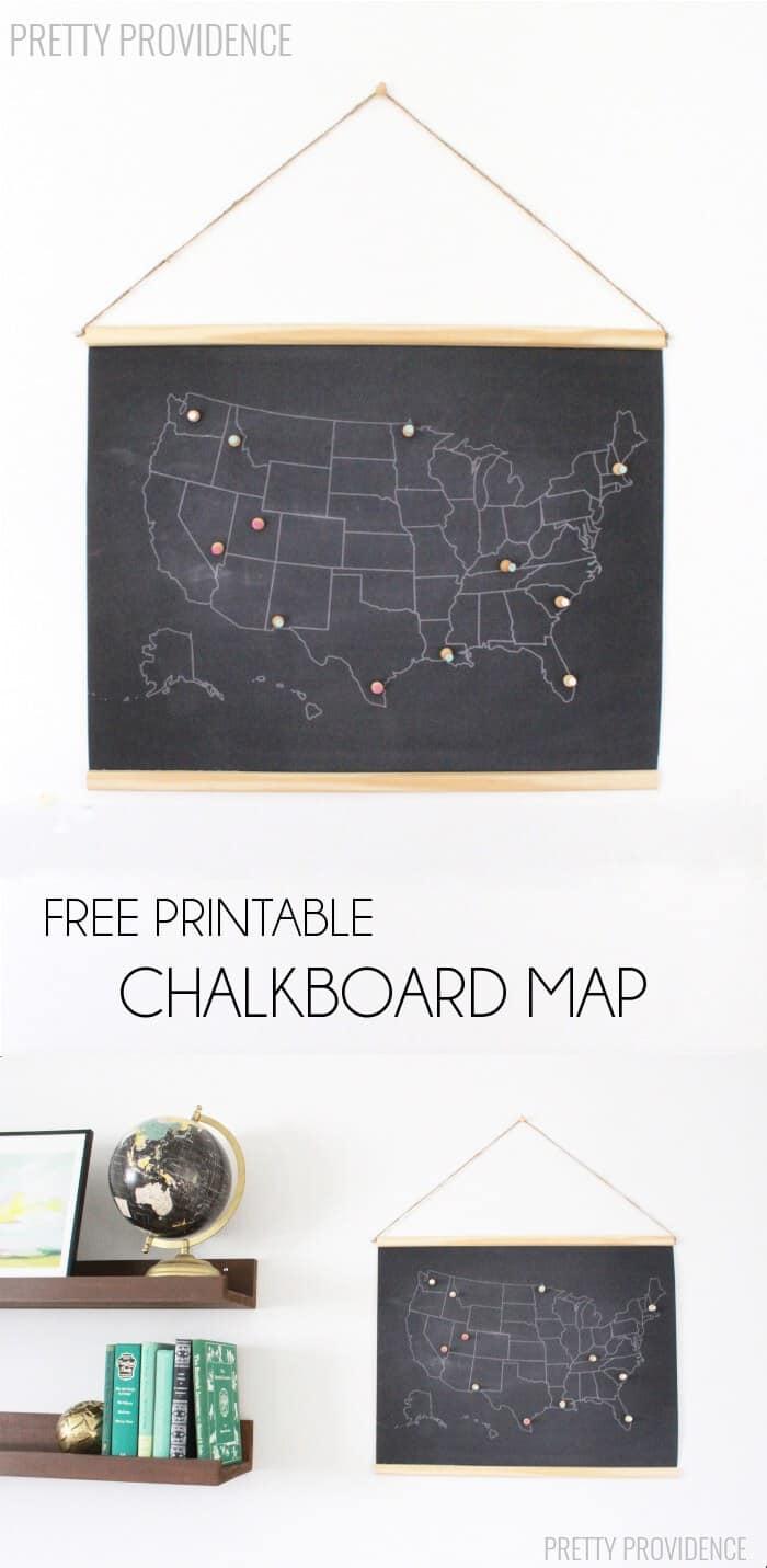 Free Printable Chalkboard Map Pretty Providence