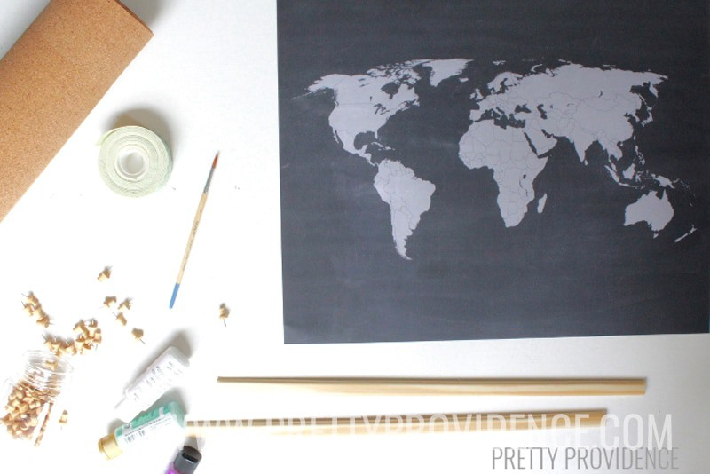 Free printable chalkboard map of the USA to record where you've traveled!! I love this!