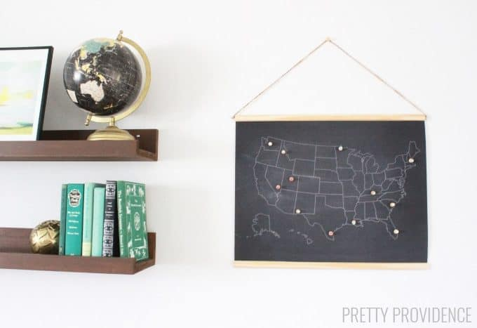 Free Printable Chalkboard Map