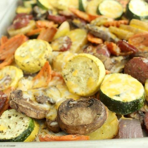 Easy Roasted Kielbasa and Veggies
