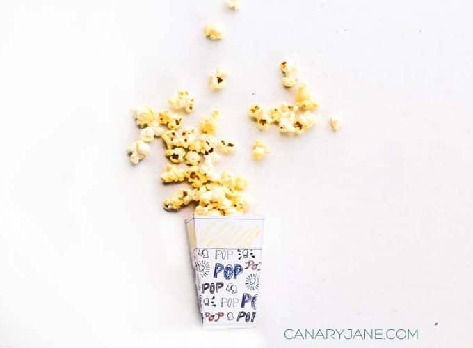 Printable Popcorn Boxes