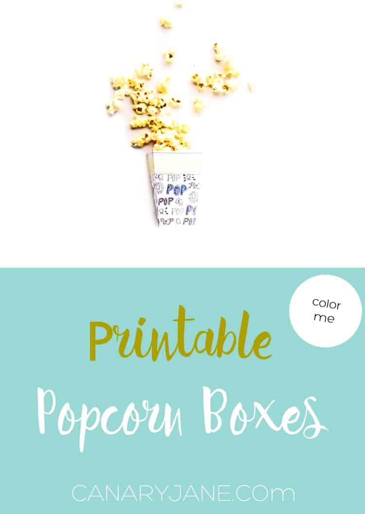 graphic about Printable Popcorn Boxes identified as Printable Popcorn Containers
