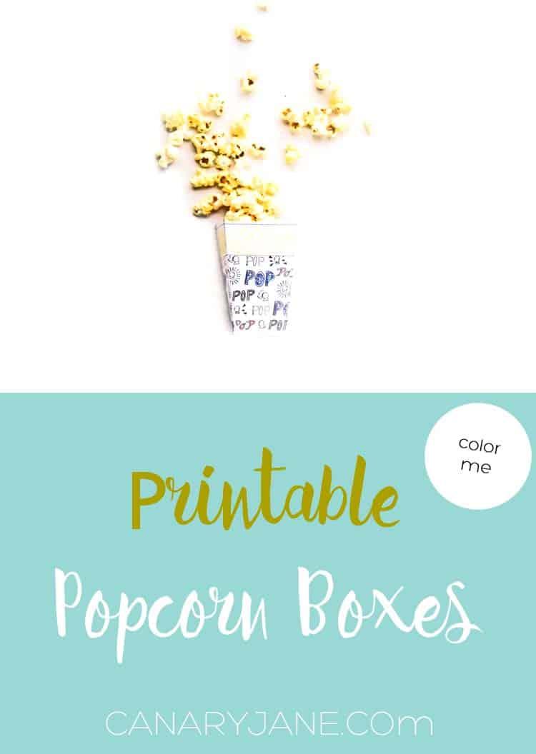 popcorn boxes printable