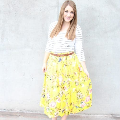 Springy Floral Skirt
