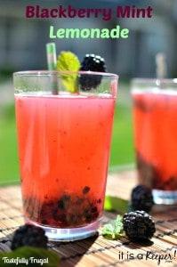 Blackberry Mint Lemonade | Tastefully Frugal