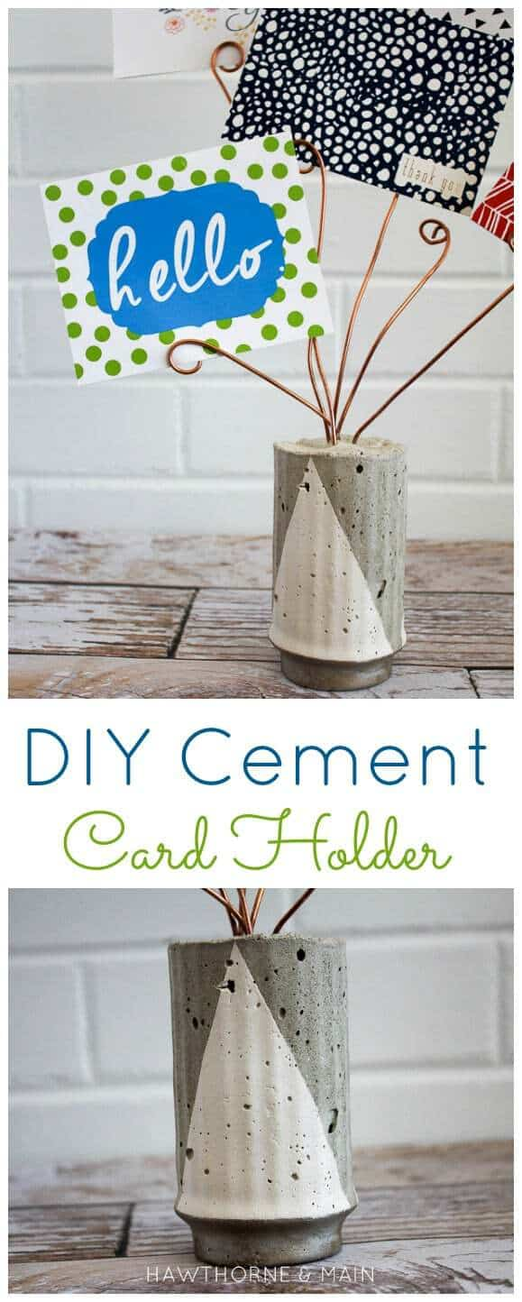 Cement Card Holder Title