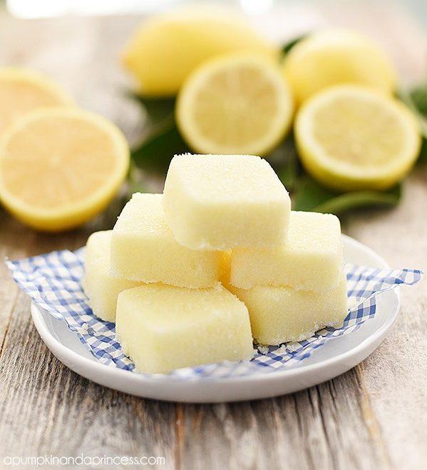 DIY Lemon Sugar Scrub Cubes from A Pumpkin and A Princess!