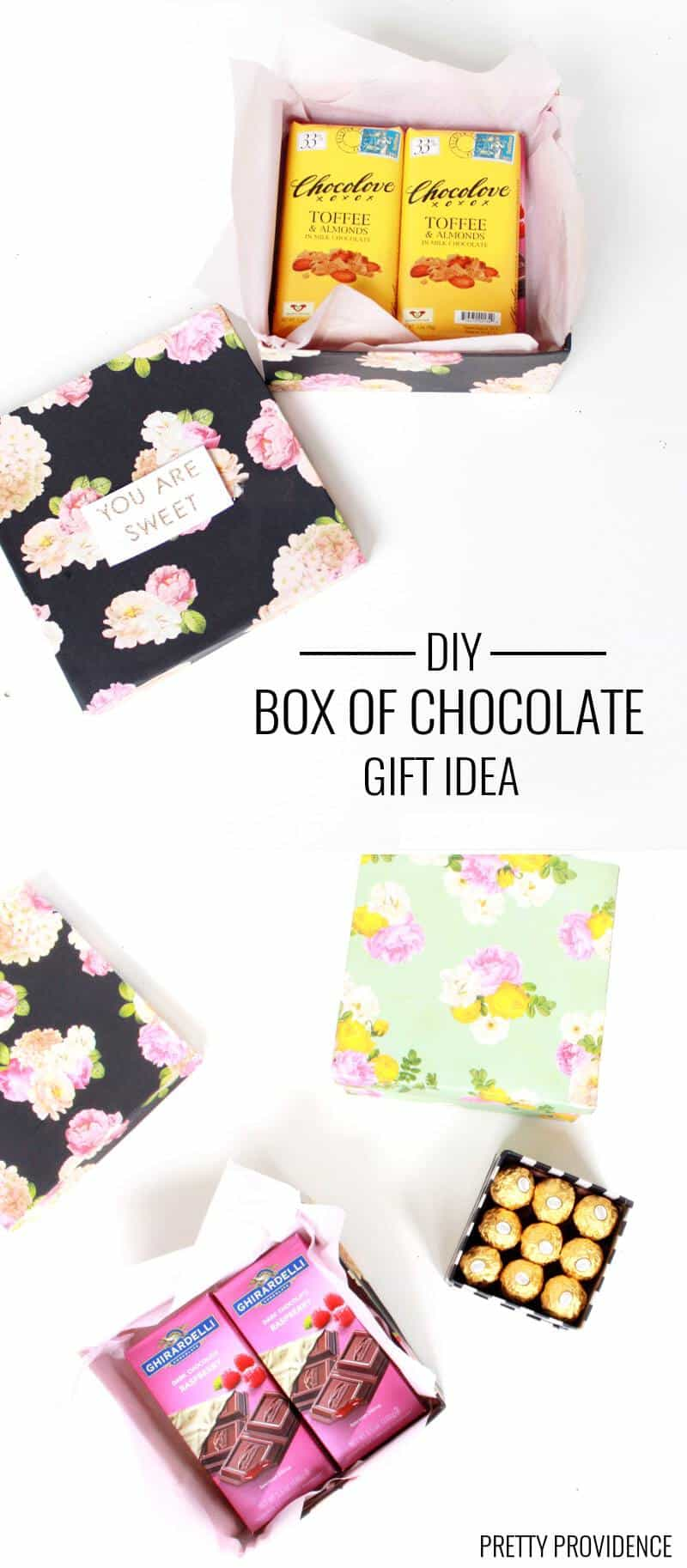 Fill a box with your favorite fancy chocolate for Mother's Day!! No more assortments!