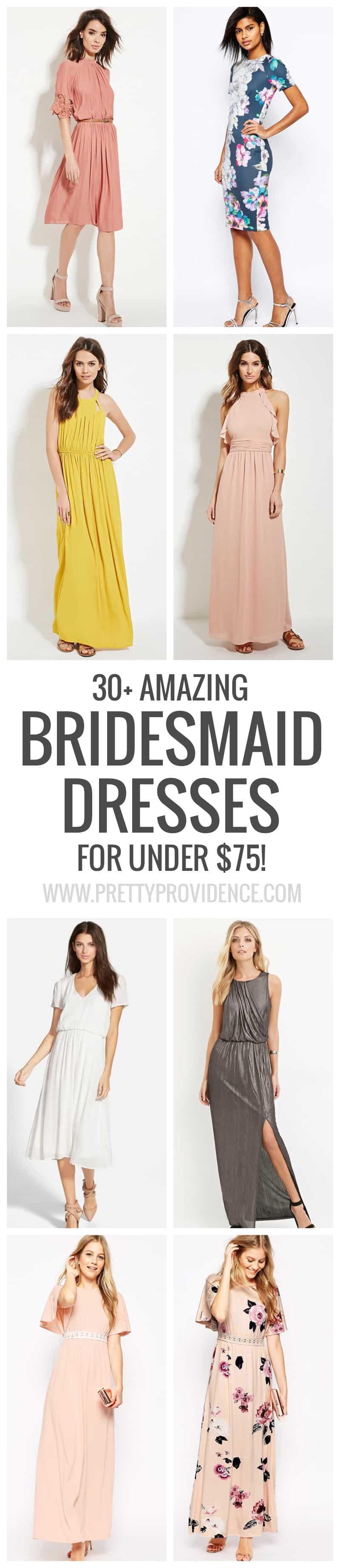 30 amazing bridesmaid dresses under 75 pretty providence 30 amazing bridesmaid dresses for under 75 some of them are a lot cheaper ombrellifo Gallery