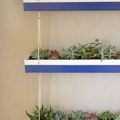 DIY Hanging Gutter Planter