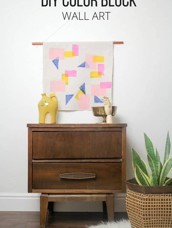DIY Color Block Wall Art
