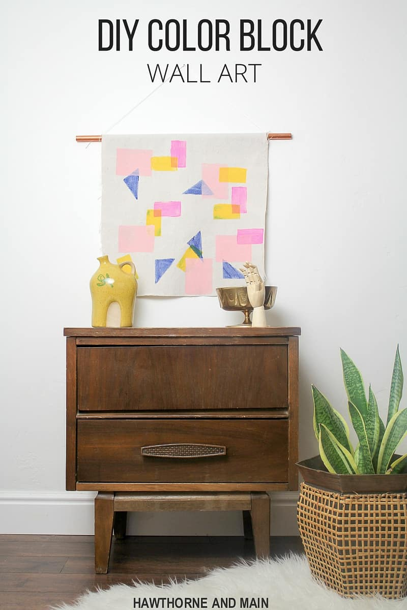 Diy color block wall art pretty providence for Diy colorful wall art