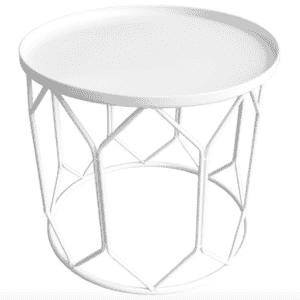 At Home Patio Side Table - LOVE this mid century modern patio inspo!