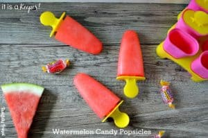 Watermelon Candy Popsicle | Tastefully Frugal