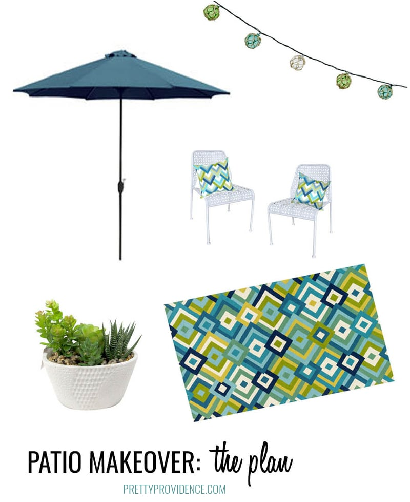Mid century modern patio makeover plan! I am SO excited about it!