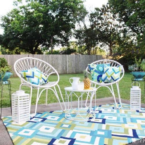 Bright Mid-century Modern Patio Makeover