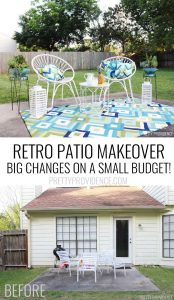 OMG I love this mid-century modern patio makeover!!!