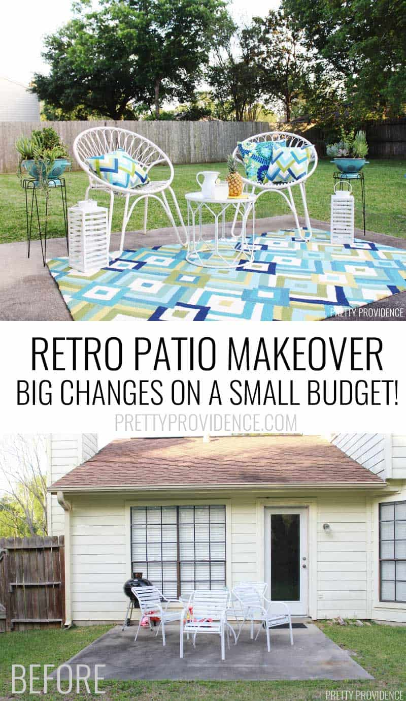 OMG I Love This Mid Century Modern Patio Makeover!