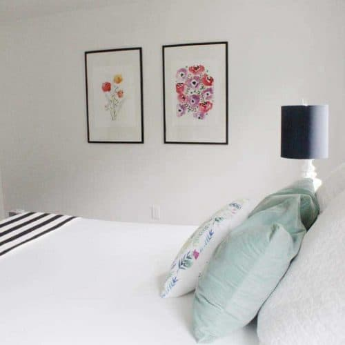 Bright White Master Bedroom Update