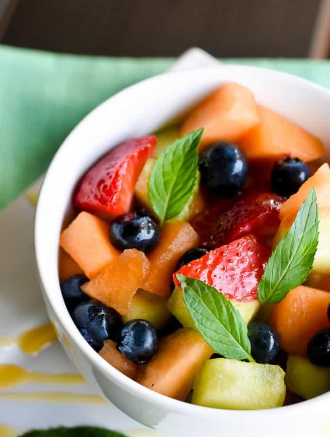 Honey and Mint Fruit Salad