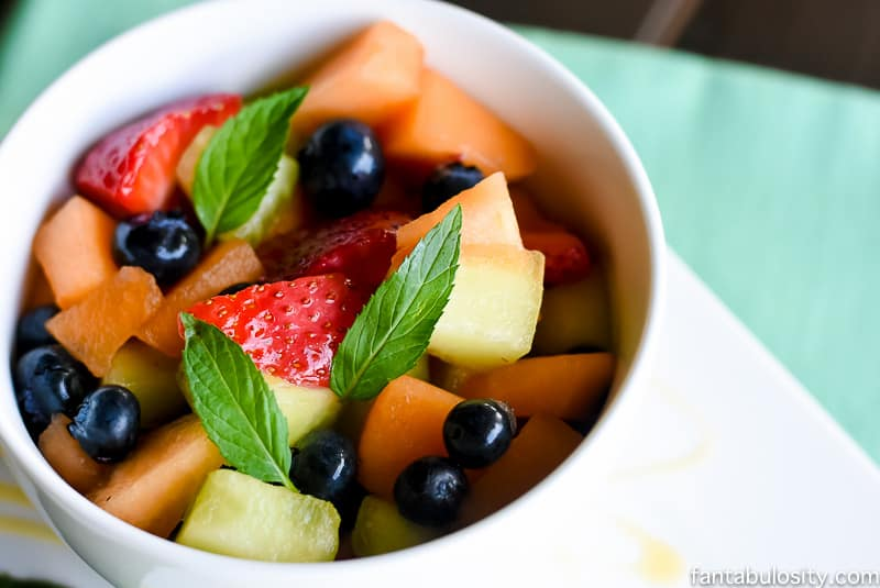 Honey and Mint Fruit Salad