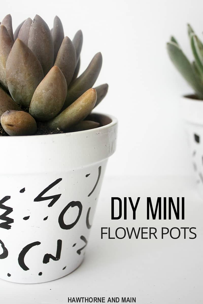 Check out these super simple DIY mini flower pots. This is a great afternoon craft or a great girls night craft project. Hopefully I can keep these alive this time!