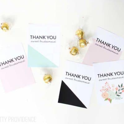 Bridesmaid Thank You Gift Printable
