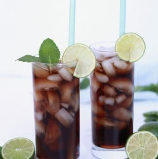Dirty Dr. Pepper - Coconut Syrup and Lime