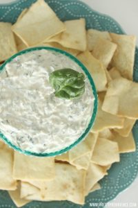The BEST and easiest spinach dip ever! Literally takes five minutes to throw together and is always a major crowd pleaser!
