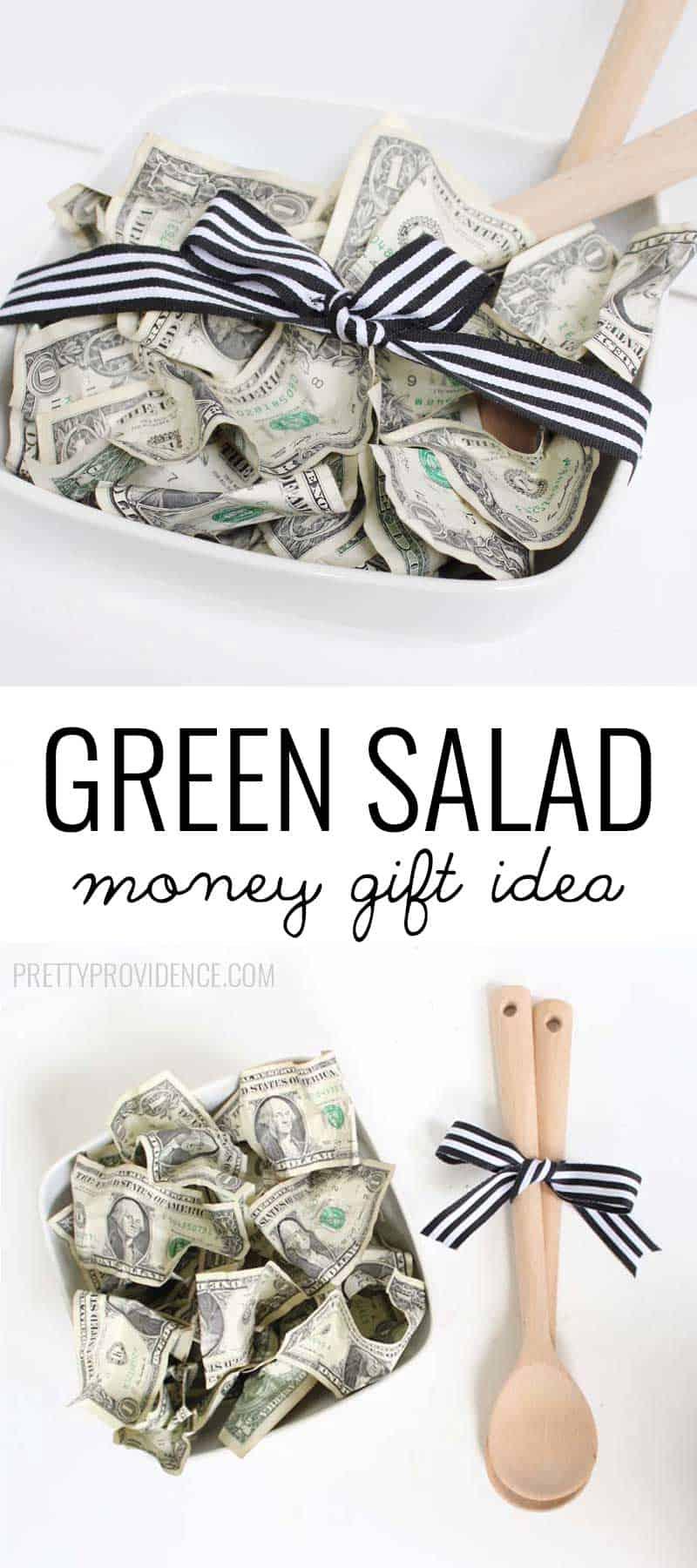 Salad Bowl + Dollar Bills = Cutest wedding gift EVER!